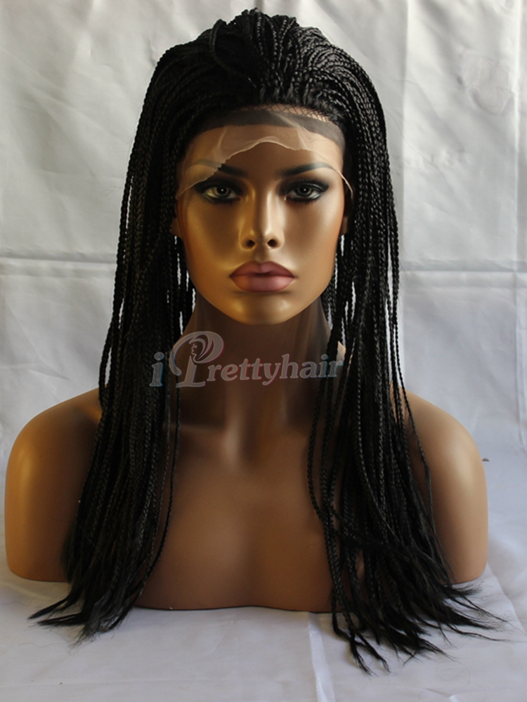 Micro Braid Lace Front Wig Curly Hair