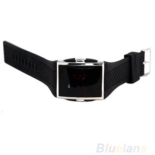Men Women Casual Unisex White Black LED Digital Sports Wrist Watch Wristwatch Date Clock 01KT 4ASU