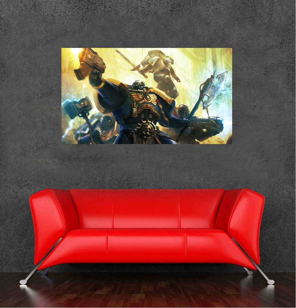 2016 warhammer 40k wallsticker posters for walls bedroom for Decor 40k