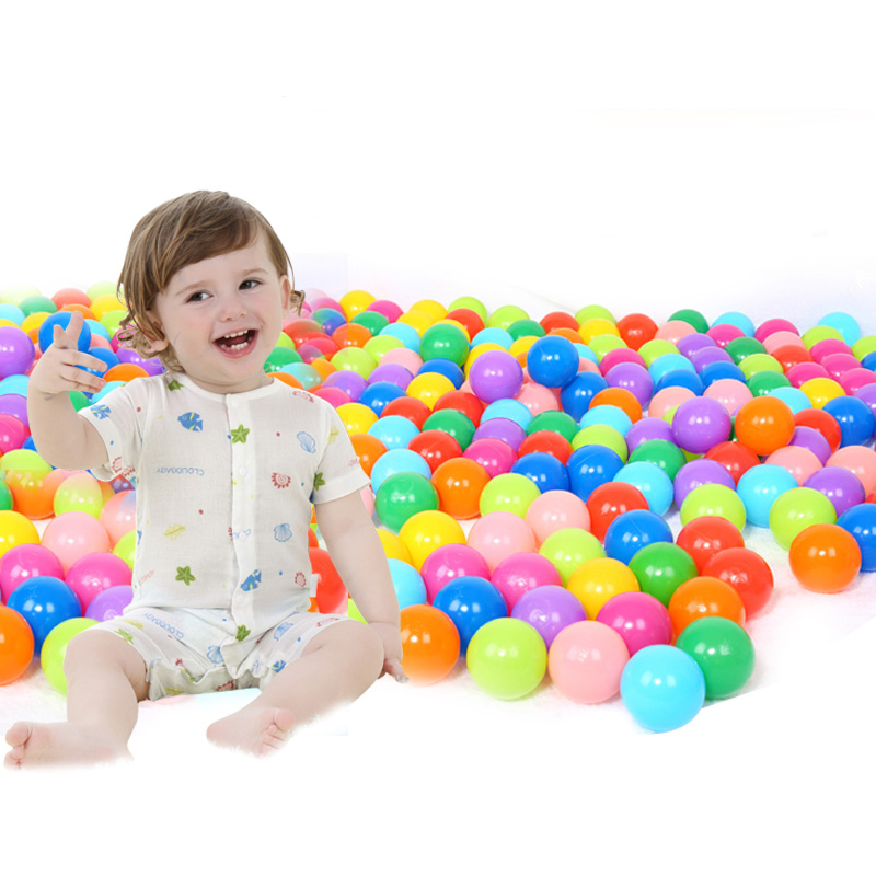 50/100PCS/Lot 5.5cm Ball Pits Eco-Friendly Candy Color Soft Plastic Tent Water Pool Ocean Wave Ball Baby Funny Toys Beach Ball(China (Mainland))