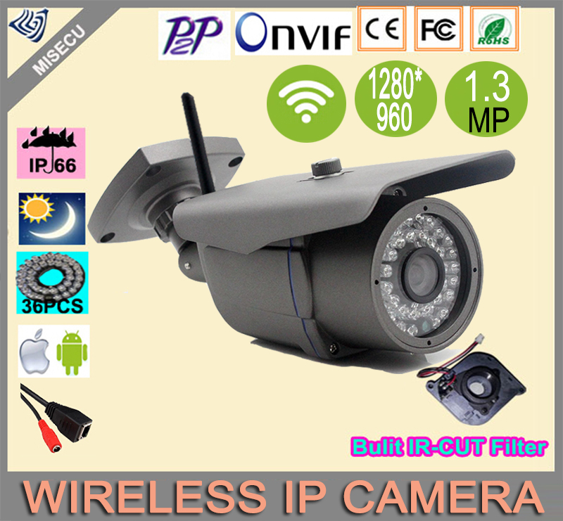 New design 1280*960P ONVIF2.0 1.3MP HD P2P&amp;Wireless IP Camera Wifi 36 IR Led In/Outdoor CCTV IP Night Vision Security Camera<br><br>Aliexpress