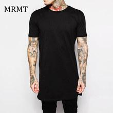 Buy 2017 Brand New Clothing Mens Black Long t shirt Men Tops Hip hop tee T-shirt Men Hiphop Short Sleeve Longline casual Tee shirts for $5.99 in AliExpress store