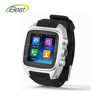 electronic 2015 new PW306II Android Smart phone Watch MTK6572 1.3G Dual core 512M 4G 1.54 inch Bluetooth Camera 3G WCDMA GSM GPS