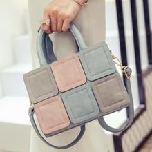 LEFTSIDE 2016 New Stitch Tote bag Women's handbag for Women fashion handbags Ladies Fashion Women messenger bag shoulder bags(China (Mainland))