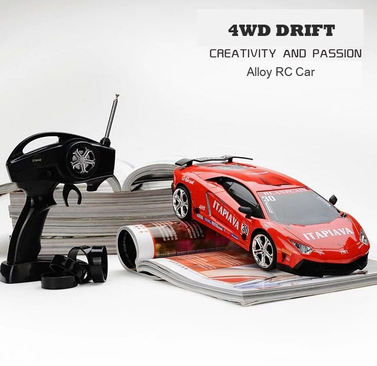 Free shipping High Performance Fast speed 4WD RC Drift Car Firelap Miniz Electric 2.4G RC Car RTR 1:16 Alloy Cars For Boys Gift(China (Mainland))