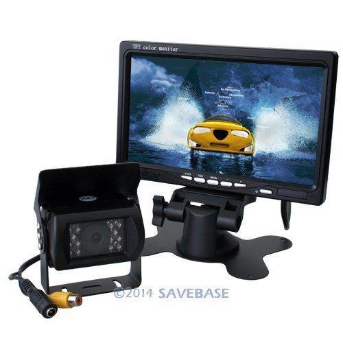 """HOMSECUR 12V-24V Car Reversing Camera Kit With An IR Rear View CMOS Camera + 7"""" TFT LCD Monitor For Truck/Caravan/Van(China (Mainland))"""