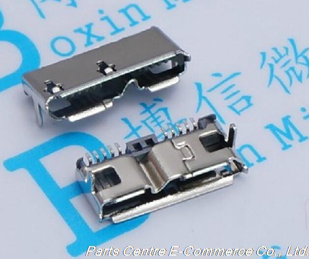 2pcs/lot free shipping Micro 3.0 USB female connector type B dip(China (Mainland))