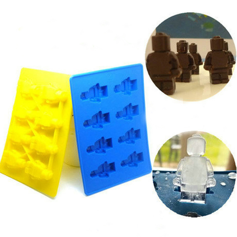 1PC Minifigure Silicone Chocolate Jelly Candy Cake Mould Ice Cube DIY Tray Candy Mold Kitchen Tools(China (Mainland))