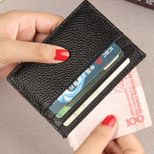 Buy Genuine Leather ID Holders Men's Business Ultrathin Evidence Driving License Bits Black Coffee Card Holder Package Case Wallets for $8.00 in AliExpress store