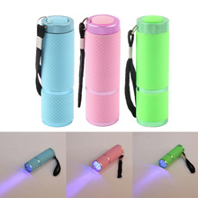 High Quality Portable Mini 9 LED Nail Dryer Curing led gel lamp Flashlight Torch For UV Gel nail polish dryer(China (Mainland))