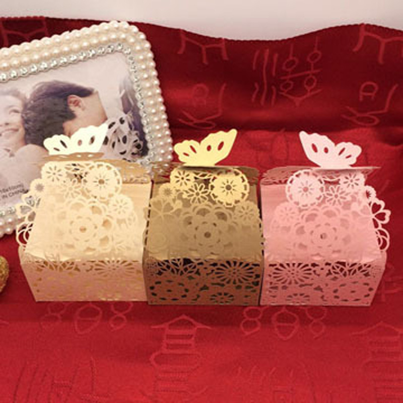 Factory direct European wedding candy boxes creative packaging of chocolate or bonbon hollow post 200 pieces per lot(China (Mainland))
