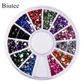 Biutee 12 Colors Nail Rhinestones 2mm Acrylic Nail Art Rhinestones Decoration For UV Gel Phone Laptop