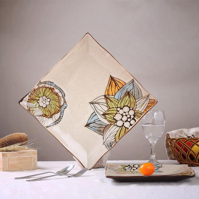 Лидирующий ручная роспись керамических декоративная тарелка висит табличка творческая личность стейк блюдо из пасты
