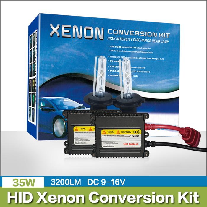 Free Shipping 35W H1 H4-1 H7 H3 H9 H10 H11 9005 9006 HB3 HB4 4300K 6000K 8000K 10000k hid xenon converision headlamp kit Car(China (Mainland))