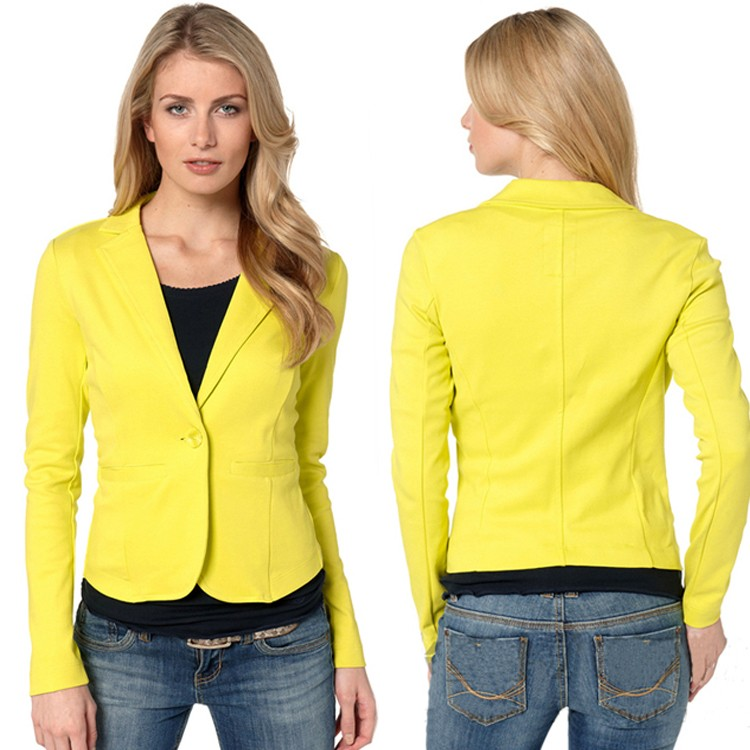 online kaufen gro handel ladies yellow blazer aus china ladies yellow blazer gro h ndler. Black Bedroom Furniture Sets. Home Design Ideas