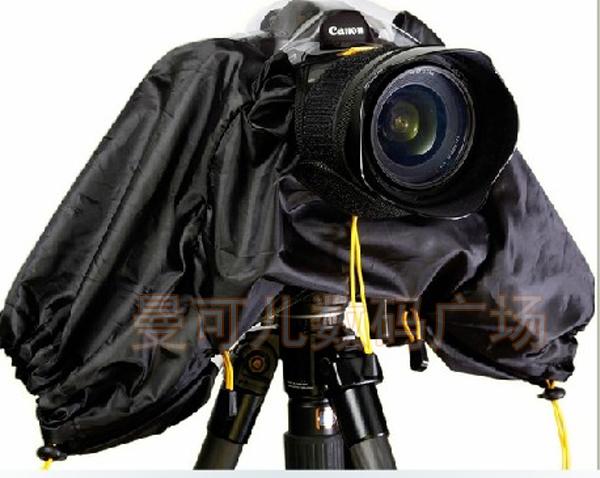 camera rain cover rainwear dust protector rain coat rainproof dustproof waterproof raincover for CANON NIKON DSLR free shipping(China (Mainland))