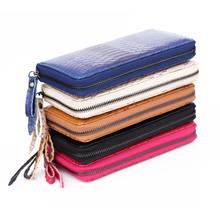 Fashion Ladies purse zipperleather wallet snake texture multi capacity bank card mobile phone bag women wallets
