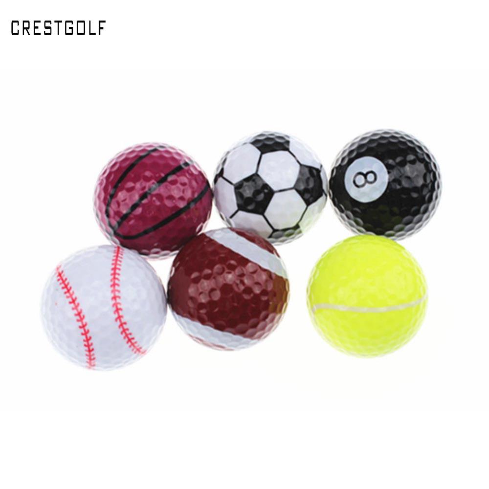 6pcs/lot Novelty Sports Practice Golf balls ballen Two Layer Golf pelotas Assorted Golf Ball Driving Range Ball(China (Mainland))