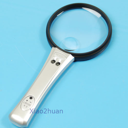 Free Shipping Magnifying Glass 3x 4x Magnification 2 LED Light Bulb<br><br>Aliexpress