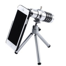 Buy 12X Zoom Optical Telescope Camera Lens Kit Tripod Case iPhone 6 6Plus 5S 5 4S Samsung S6 s6 edge S5 S4 S3 Note 4 3 2 for $227.00 in AliExpress store