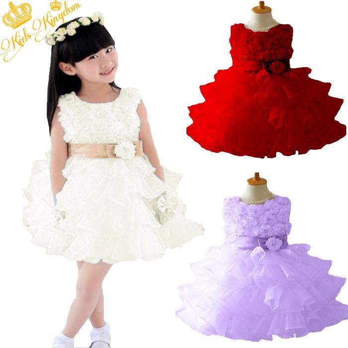 Гаджет  Retail !2015 new sleeveless Waist Chiffon Dress Girls Toddler 3D Flower Tutu Layered Princess Party Bow Kids Formal Dress None Детские товары