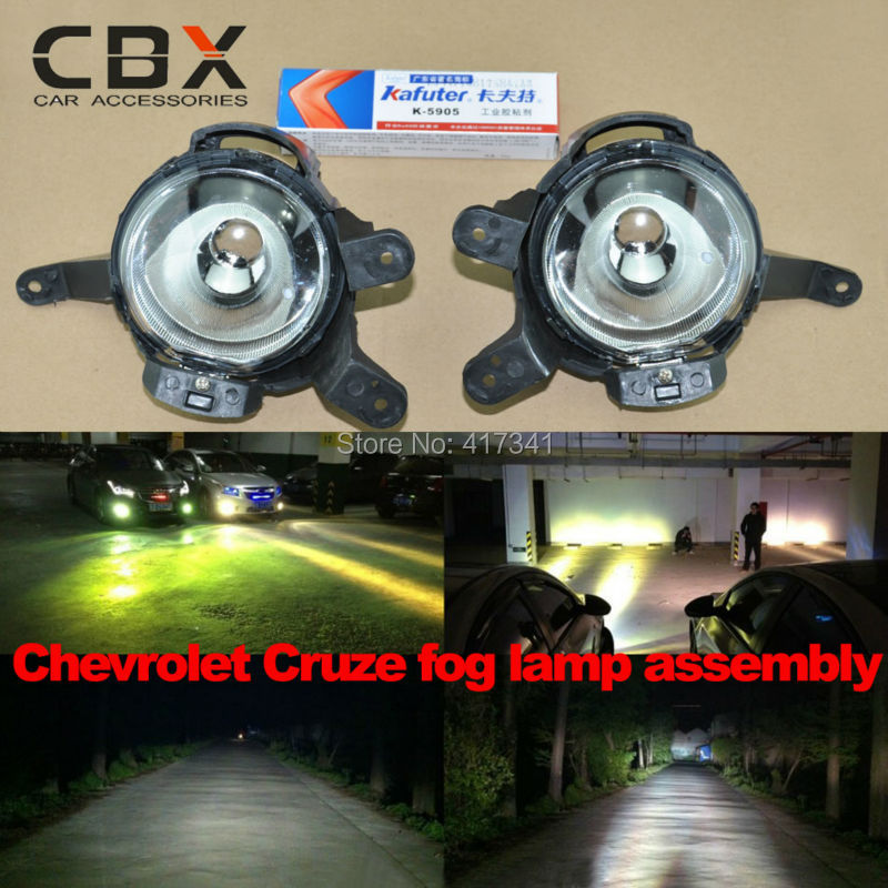 2014 Newest Fog Light Assembly for Chevrolet Cruze Special Use Original Install Using H8 HID Xenon