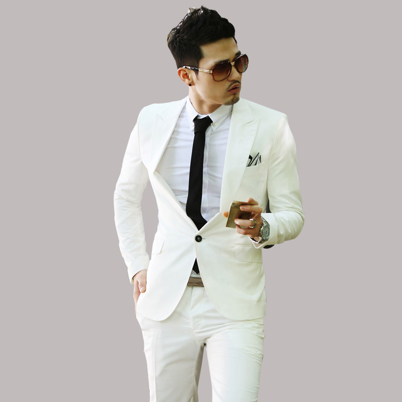 2015 New Business Casual Slim Fashion Male Suits Men