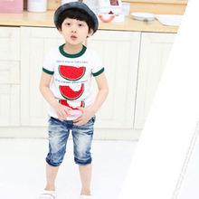 Lovely Summer Kid Toddler Watermelon Tops Cozy T-Shirt Child Boys Short Sleeve Tee