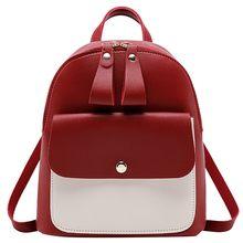 Bolsos escolares para chicas adolescentes moda lindo mochila trasera Kawaii bolsos de hombro para mujeres Patchwork pequeña mochila femenina(China)