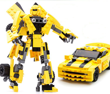 Nueva Original de la película Robot transformación Bumblebee bloques de construcción 2 1 modelo de Autobot monte ladrillos juguetes compatibles con Lego