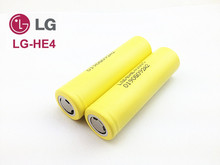 4PCS 2015 New100% Original LG-HE4 2500mah 18650 Battery ICR 18650HE4 Rechargeable Battery For Electronic Cigarette Free Shipping