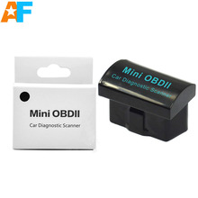 Free Shiping! New Version ELM327 MINI OBDII Bluetooth Super MINI ELM 327 OBD/OBD2 Works ON Android Torque/PC
