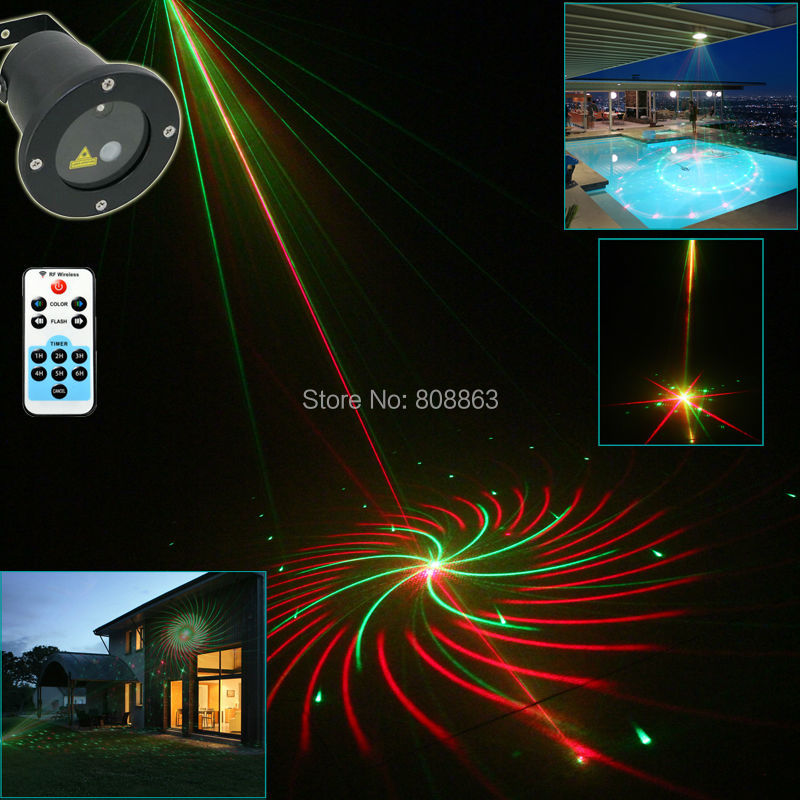 new version RG Outdoor Waterproof 12 patterns Laser projector Landscape Light club party Christmas Tree Garden Xmas B194(China (Mainland))