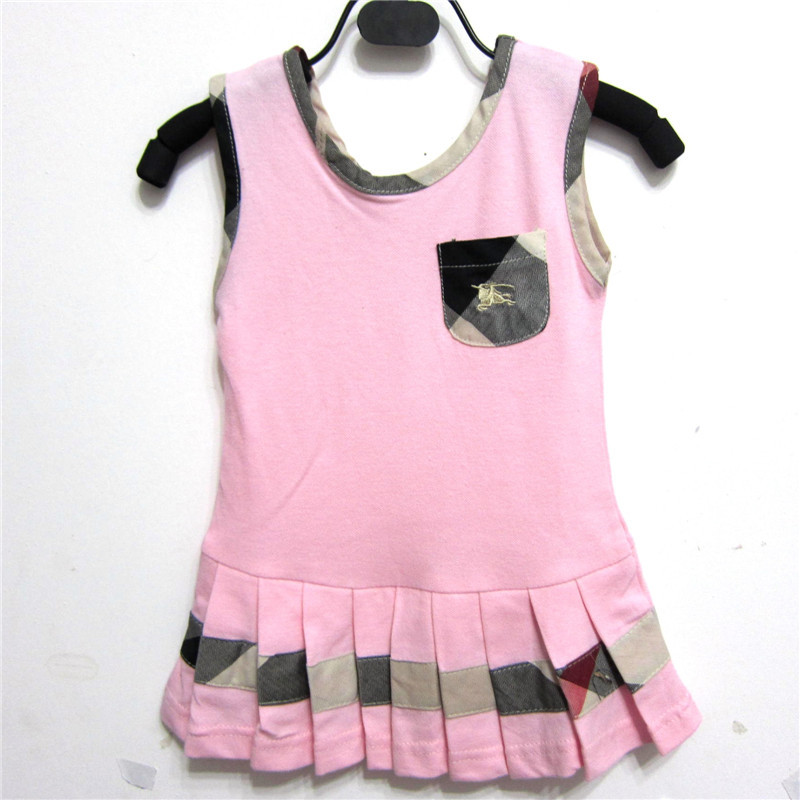 New 2015 Baby Infantis Girls Vestidos Dress Summer Casual cotton Brand Solid Princess dress Kids Children Sports Tennis clothes(China (Mainland))