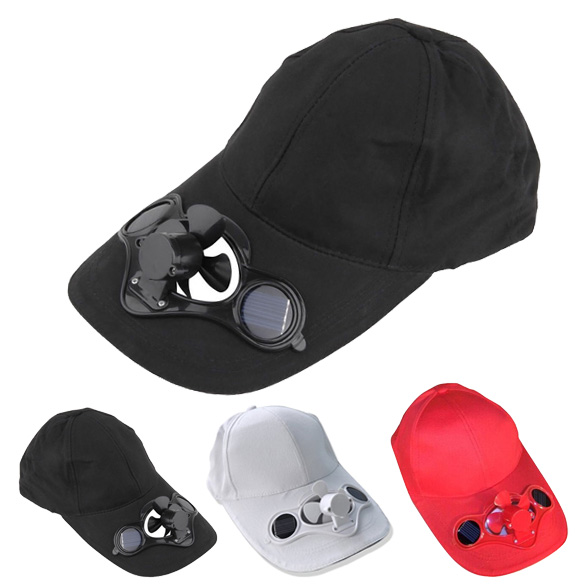 Creative Outdoor Solar Power Hat Cap with Cooling Fan for Outdoor Travel Golf Baseball Sport Summer Free Shipping(China (Mainland))