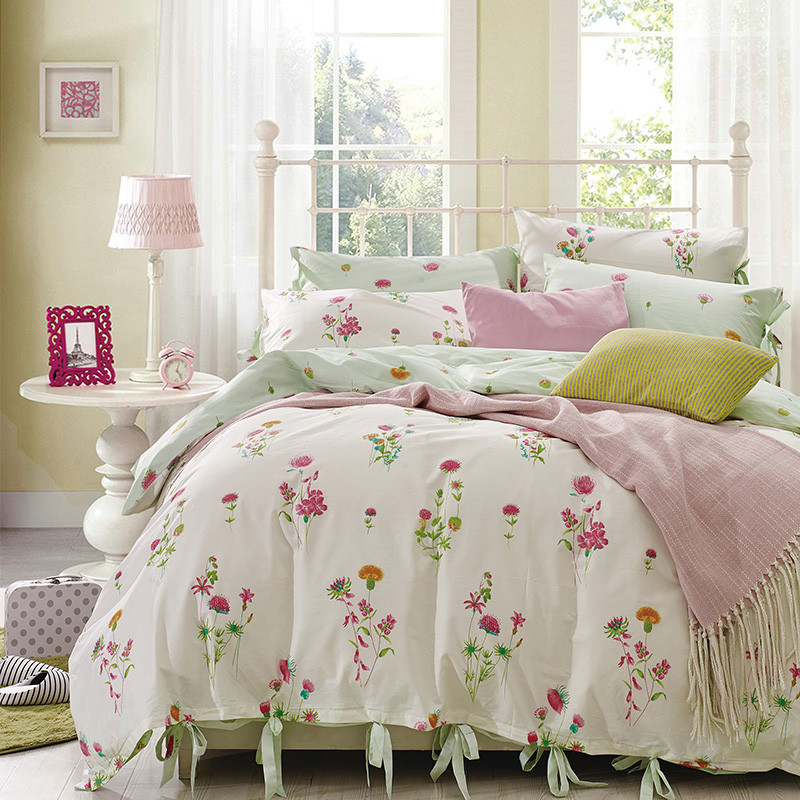 2016 new design floral print bedding sets 4pcs 1duvet for New bed designs 2016