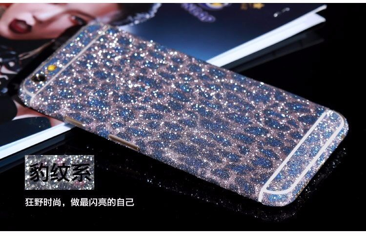 For iPhone 6S Sticker Glitter Full Body Bling Diamond Screen Protector Sparkly Film Decal For iPhone 7 Sticker 4S 5C 5S 6S Plus
