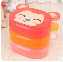 4 grid 2093 cartoon practical plastic storage box kit super adorable animal Creative Multifunction Portable
