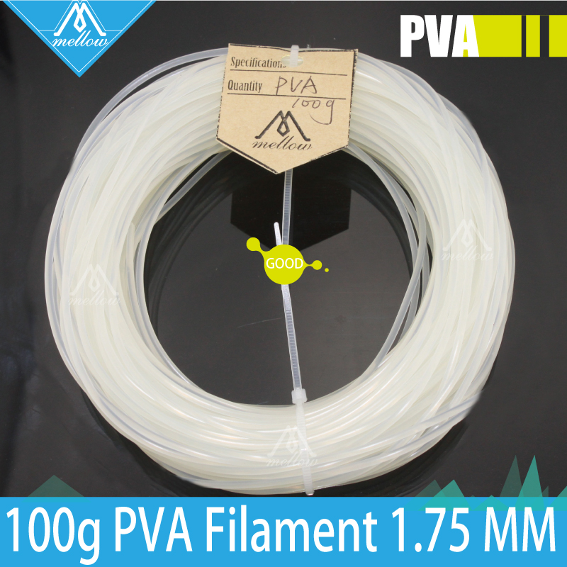 100g 3D Printer PVA Filament 1.75 MM 100g Spool for Makerbot, Reprap, UP, Afinia, Flash Forge and all FDM 3D Printers(China (Mainland))