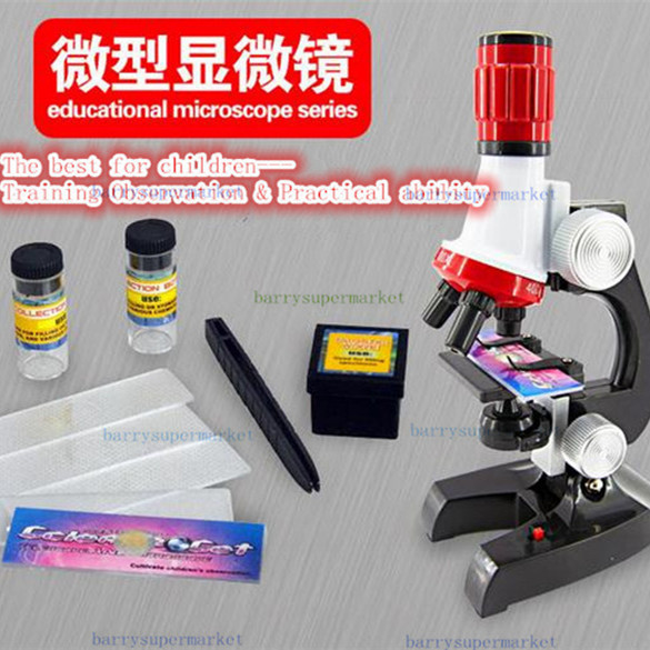 Birthday gift 1200x 100X 400X trinocular biological focusable Science&Education microscope kit refined scientific Instrument toy(China (Mainland))