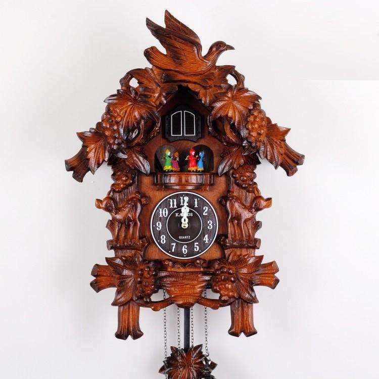 FREE SHIPPING wall clock KAIROS cuckoo clock high quality / wooden cuckoo clock / time bird the photo wall clock(China (Mainland))