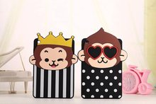 Super Cute Cartoon Animal Case For Ipad Monkey Mickey Minne Mouse Soft Silicon Funda Cover For Ipad Mini 1 2 3 protective casing(China (Mainland))