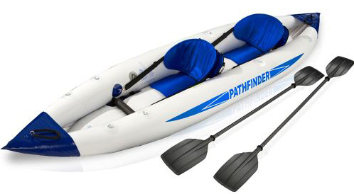 2 person pathfinder canoe inflatable boat sport kayak 400*90cm, include 2 seat+foot pump+2 paddle+carry bag(China (Mainland))