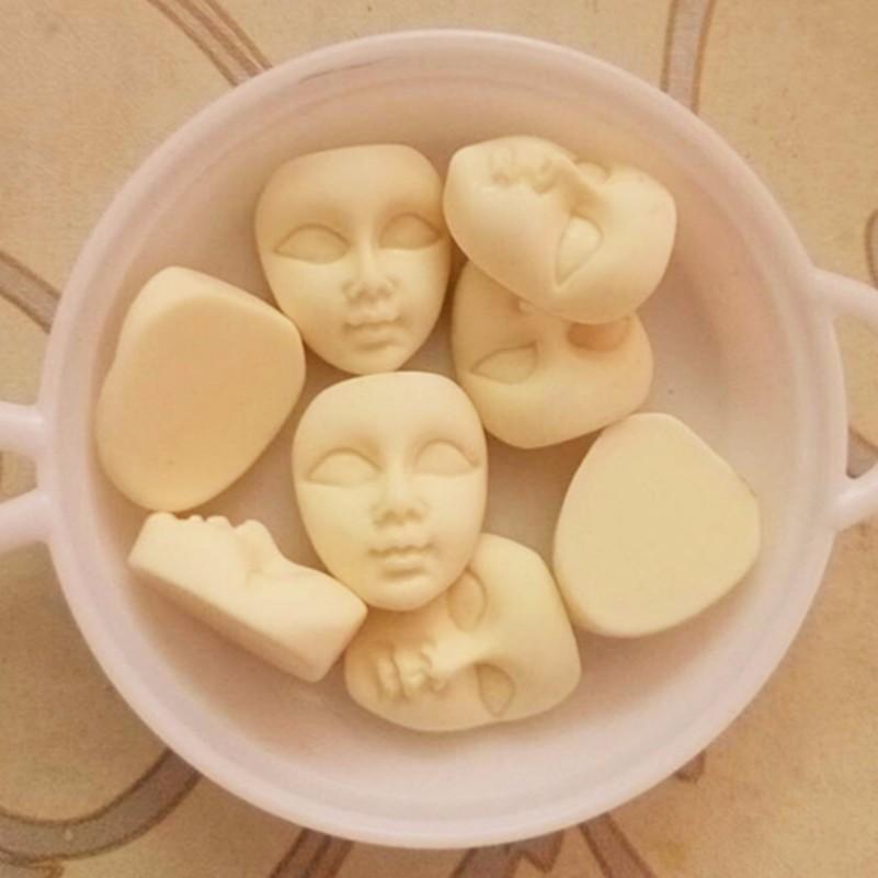 10pcs/lot Mini Masks Flatback Resin Cabochons Cute Girl Beige Face Flatback Scrapbooking Hair Bow Center Resin Crafts Making(China (Mainland))