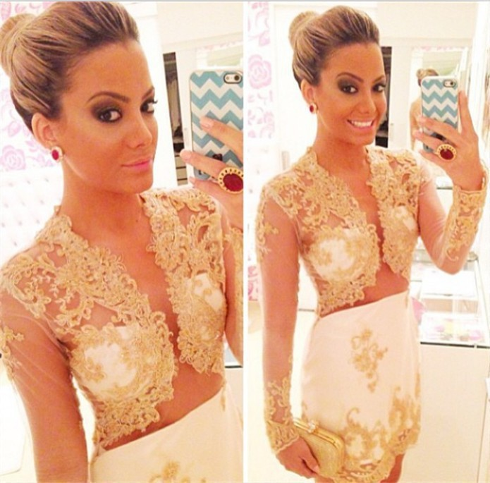 Illusion Bolero Gold Lace