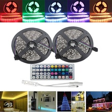 Buy 10M 600 RGB LED Strip Light 5050 SMD Flexible Rope Tape Light Kit Waterproof 44 Keys IR Controller DC12V Home Garden for $16.68 in AliExpress store