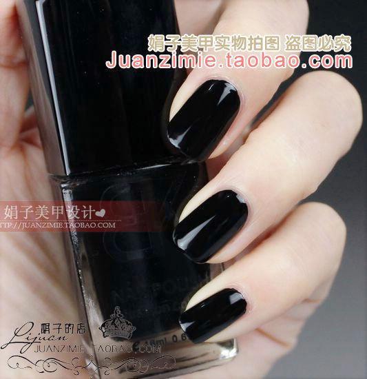 Bottle nail art casebottle bk nail polish oil 18ml classic black 03