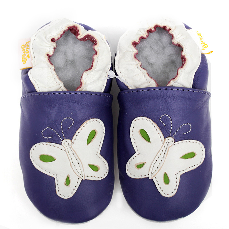 2015 New Fashion Leather Baby Moccasins Soft Sole Kids Shoes Boy Girl Infant Toddler Shoes shoes butterfly purple Free Shipping