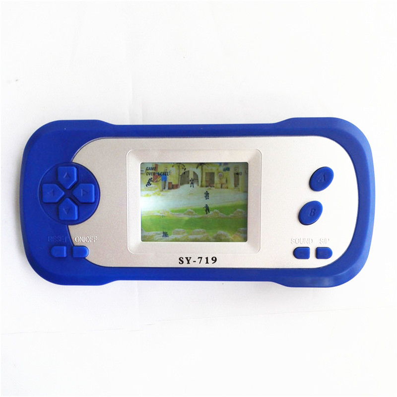 New arrival Cheap SY-719 children intelligence game player with Light Display handheld Game by 2*AAA battery free shipping(China (Mainland))