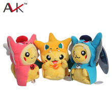 14cm Pokemon Pikachu Cosplay Charmander Pendant Plush Toy Cute Stuffed Animals Soft Fashion Doll - Enjoy-YXJ store